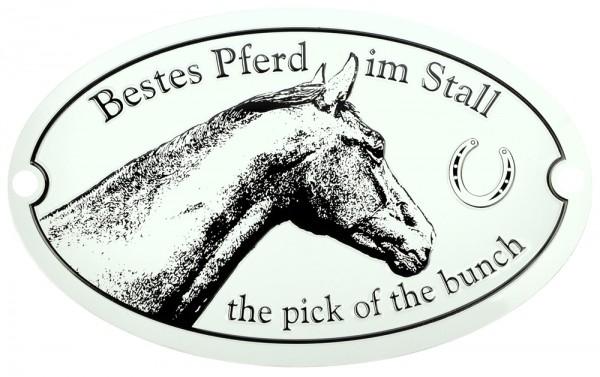 Metallschild Bestes Pferd im Stall