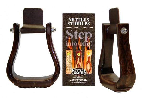 NETTLES Deluxe Holzsteigbügel - TRIPLE FINISH