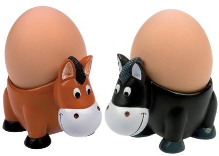 Eierbecher Pferde
